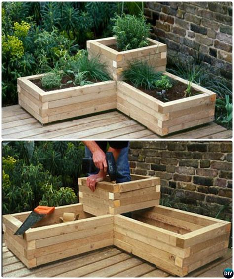 Raised Bed Planter Plans by 20 Diy Raised Garden Bed Ideas Free Plans