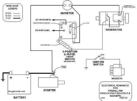 farmall m wiring diagram wiring diagram