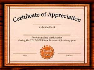 templates for certificates of appreciation certificate of appreciation templates publisher
