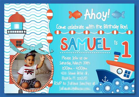 1st year birthday card template baby boy 1st birthday invitation templates