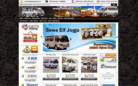 jasa pembuatan website rental mobil  rental motor