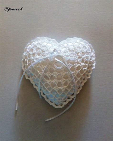 cuscino portafedi cuscino portafedi a forma di cuore ad uncinetto feste