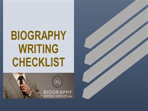 biography checklist biography writing checklist authorstream