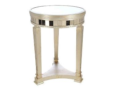 round mirrored accent table borghese mirrored round end table look 4 less