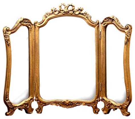 victorian bathroom mirrors tri fold vanity mirror gold leaf victorian bathroom
