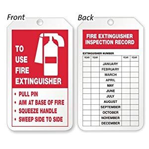 Printable Fire Extinguisher Inspection Tags Security Sistems Free Extinguisher Inspection Tags Template