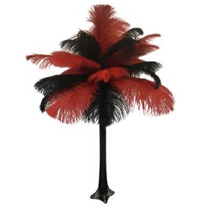 quot red and black quot ostrich feather centerpiece wholesale event solutions