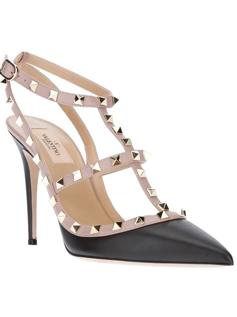 valentino studded sandal in black lyst