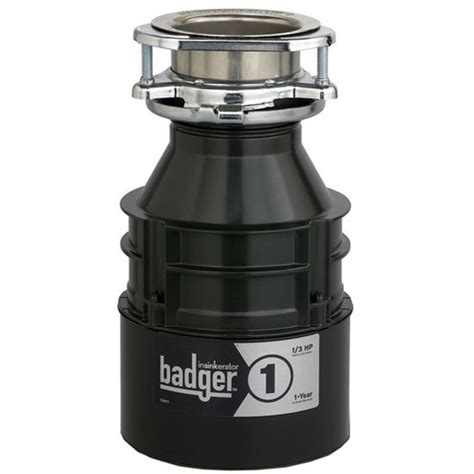 kitchen sink accessories badger 1 garbage disposer with
