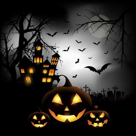 Spooky Halloween Hintergrund mit Kürbissen auf einem ... About:blank Free Halloween Clipart