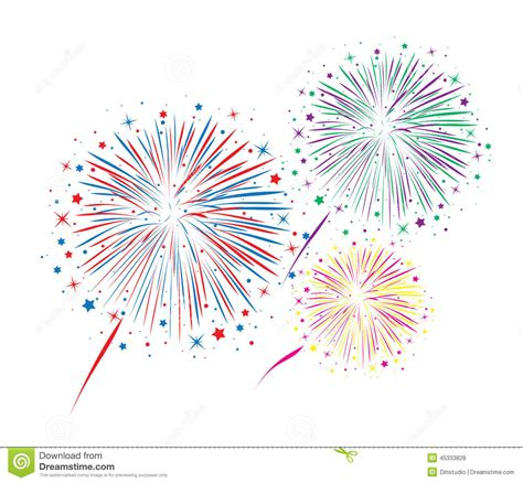 clipart fuochi d artificio anniversario astratto scoppia i fuochi d artificio