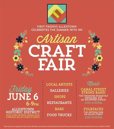 Allentown First Fridays Adds 2nd Annual Artisan Craft Fair The Good Neighborhood Craft Fair Flyer Template