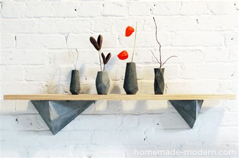 homemade modern homemade modern ep12 faceted concrete hooks