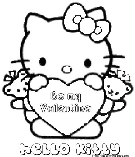 hello kitty coloring pages st patrick s day printable valentine s day hello kitty be my valentine