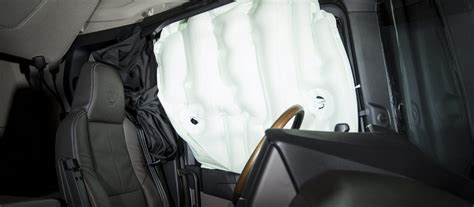 side curtain airbags scania s new truck generation world s first rollover side