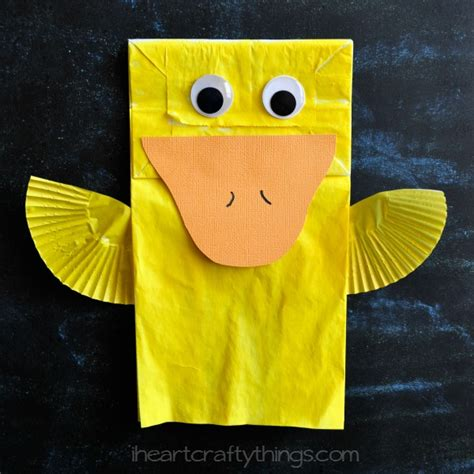 How To Make A Duck Out Of Paper - i crafty things paper bag duck craft