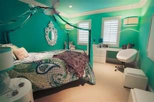 Pre teen girl s bedroom transitional bedroom orange