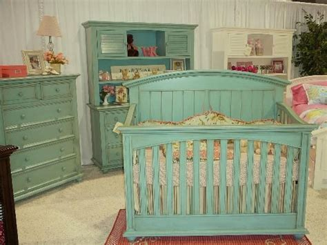 Vintage Nursery Furniture Sets A Turquoise Crib Set So Different So Calming And Boy Or Shabby Chic Decor