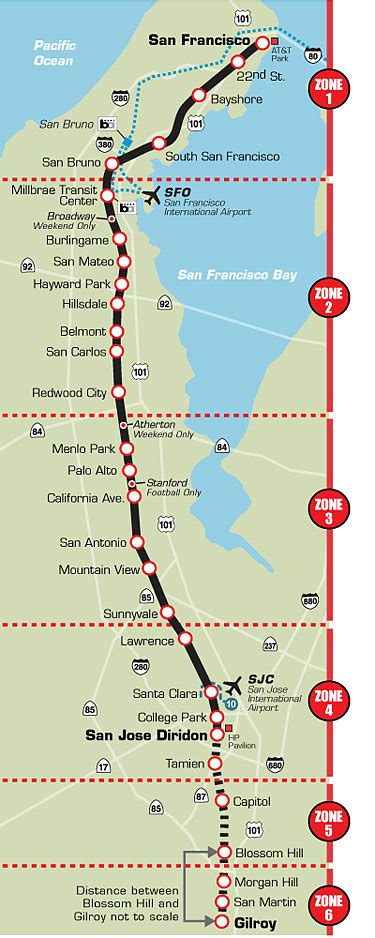 san jose caltrain map transportation guide caltrain offmetro ca