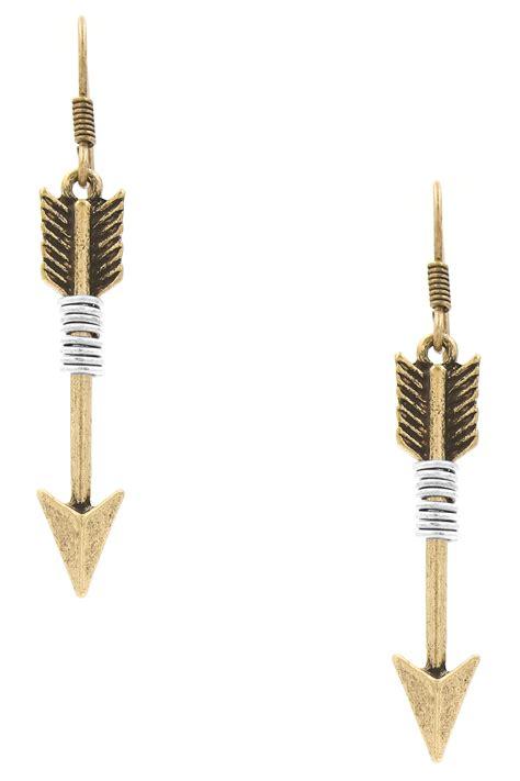Arrow Earring coiled arrow drop earrings