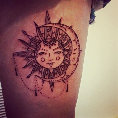 56 wonderfully artistic sun and moon tattoo ideas for
