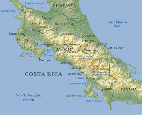 imagenes medicas de costa rica caracter 237 sticas f 237 sicas del relieve costarricense