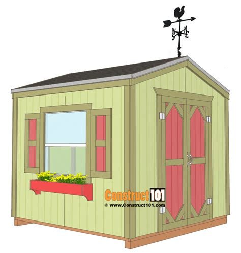 Garden Shed Dimensions by Garden Shed Plans 8x8 Step By Step Construct101