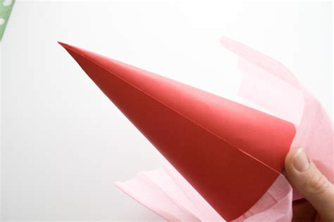 How To Make A Cone Shape Out Of Paper - how to make a paper cone cakejournal