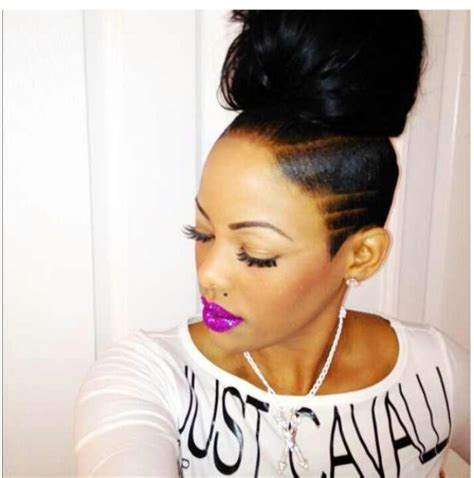shaved hairstyle with bun 26 best images about wanting weave on pinterest vixen
