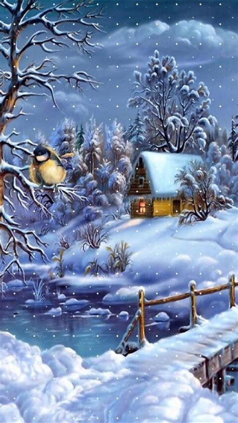 christmas wallpaper for iphone 5 hd winter christmas scenery iphone 5 background hd