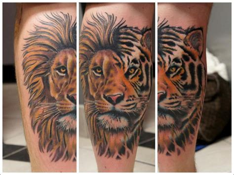 lion tiger tattoo designs tiger best design ideas