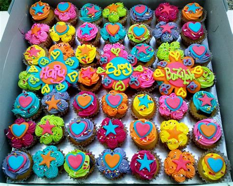 colorful cupcakes the cupcakes colorful flower and