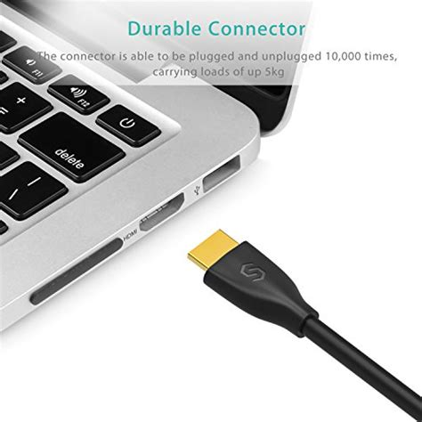 Kbl Hdm 10mi Audio Vidro Tv High Speed 1080p hdmi cable syncwire 6 5ft hdmi cord ultra high speed 18gbps import it all