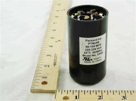 mars start capacitors mars 11945 capacitor 88 106mfd 250v rnd start cap
