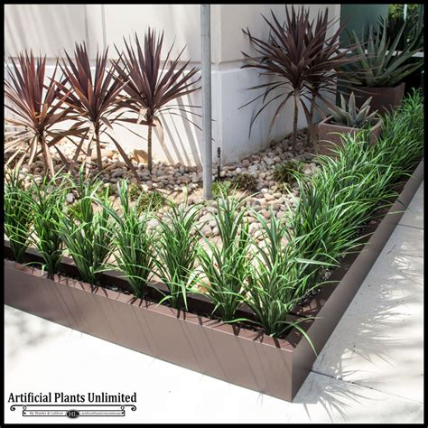 Hedge In Planter Boxes by Lush Grass Hedge In Fiberglass Planter Outdoor