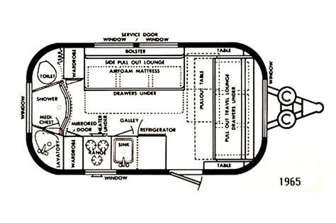 airstream travel trailer floor plans 98 best vintage travel trailers airstream cadet comanche