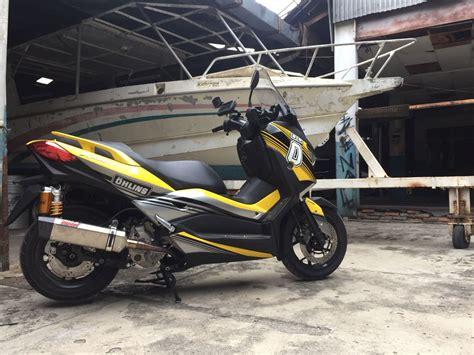Bracket Gps Atau Hp Yamaha Xmax modifikasi yamaha xmax iconic bike ohlins indonesia