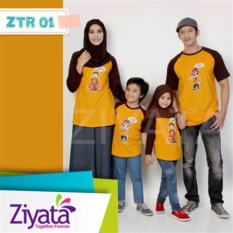 jual baju family ziyata kaos keluarga muslim zti 01