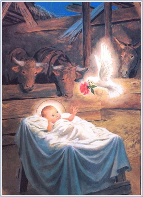 Nativity Of Jesus Christ Our Lady Of Medjugorje Text Baby Jesus In The Crib