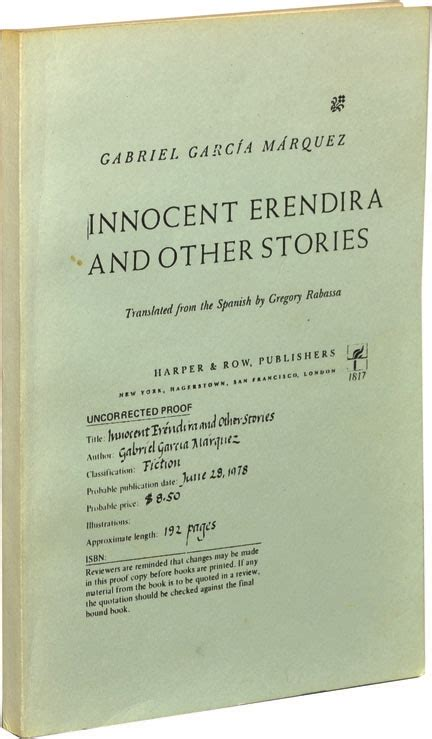 innocent erendira and other innocent erendira and other stories gabriel garcia marquez first edition