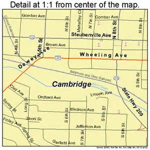Cambridge Ohio Map by Cambridge Ohio Street Map 3910996