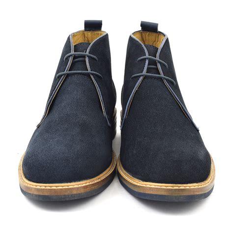 buy navy suede desert boots mens style gucinari
