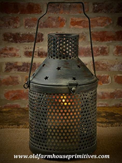 ch aged tin star lantern  farmhouse primitives