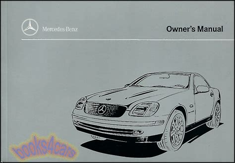 car repair manual download 2003 mercedes benz s class electronic valve timing 1999 mercedes slk230 kompressor owners manual book slk 230 handbook benz 1999 mb ebay