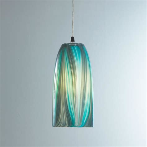 Turquoise Pendant Lighting Turquoise Feather Glass Pendant Light Pendant Lighting By Shades Of Light