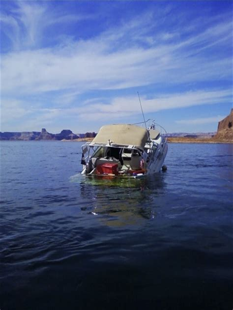 this boat or ship is not sharp at all codycross boater recounts vessel sinking on lake powell the salt