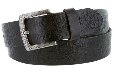 western engraved buckle leather belt 1 1 2