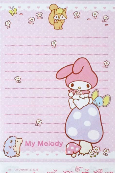 printable hello kitty notebook paper 96 best images about kawaii memo sheets on pinterest
