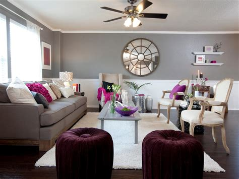 Plum And Gray Living Room by Photos Hgtv