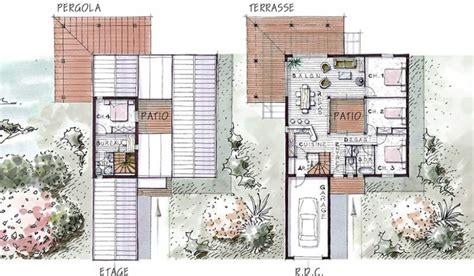 plan maison patio central maison ossature bois 224 233 tage 115 m 178 4 chambres